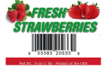 1 lb Fresh Strawberries UPC label